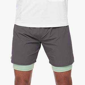 do 4-Way Stretch 2 in 1 Short - Charcoal/Nature Green | do Sport