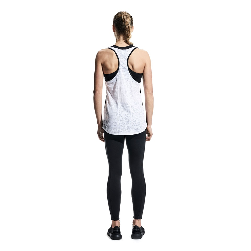 base contrast womens tank top - black/white