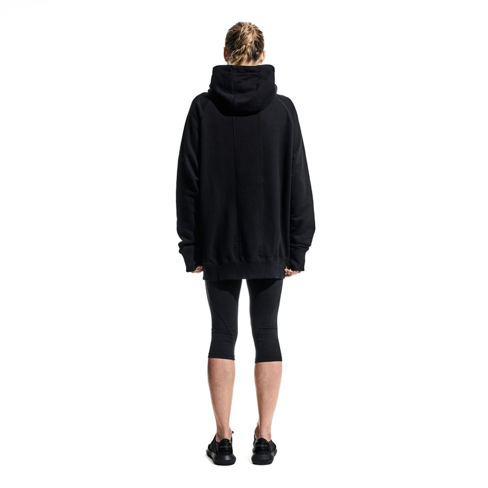 base zip womens sports hoodie - black