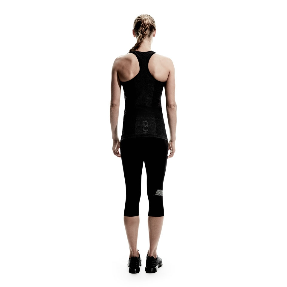 doRUN seamless womens running tank top - charcoal marl