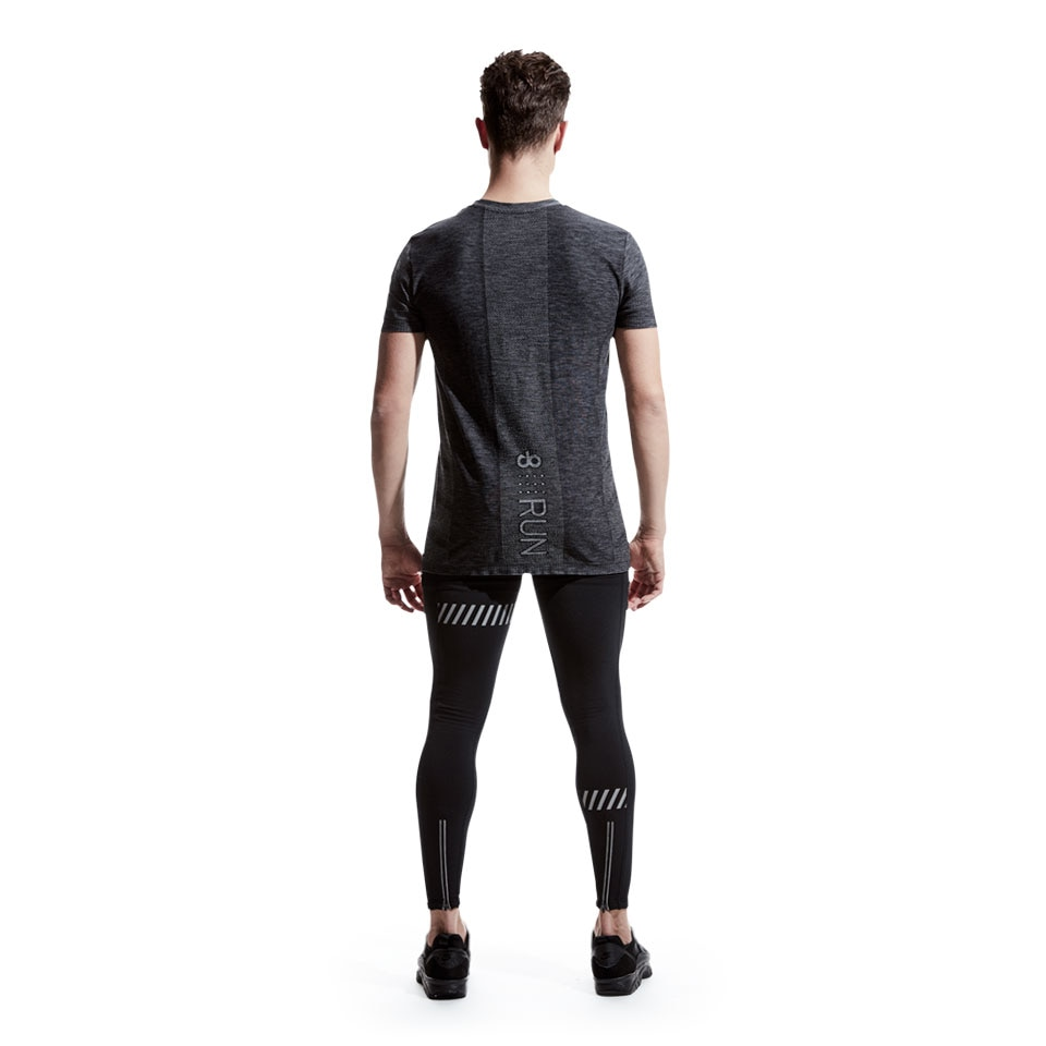 doRUN seamless mens sports t-shirt - charcoal marl
