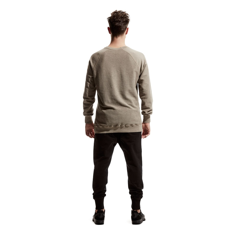reversible mens sweatshirt - beige