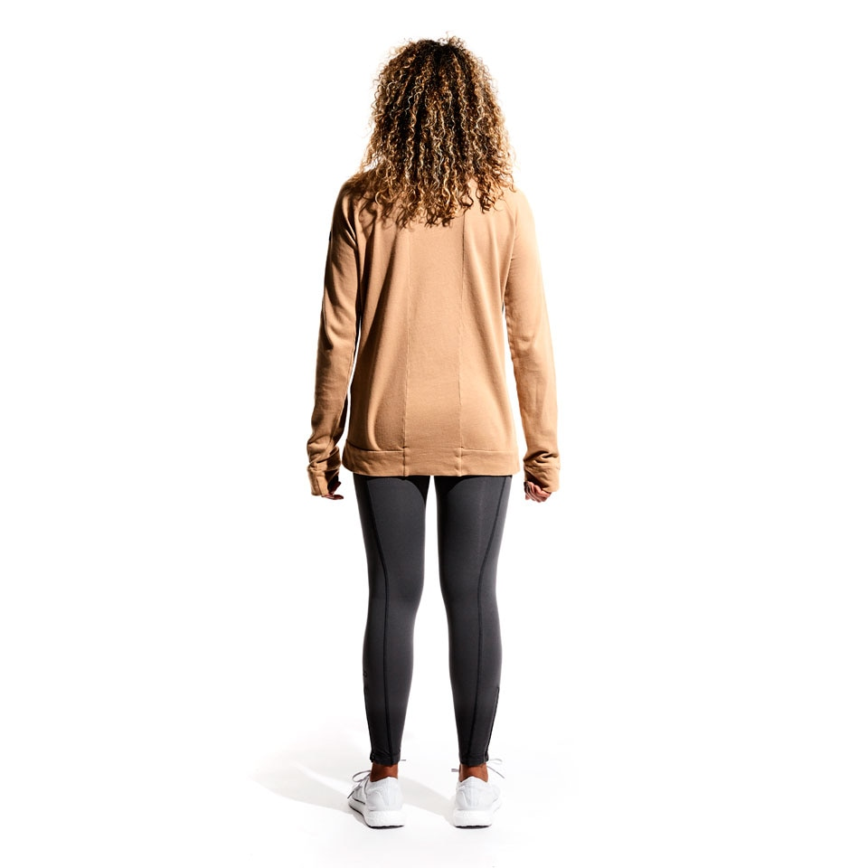base california womens sweatshirt - camel