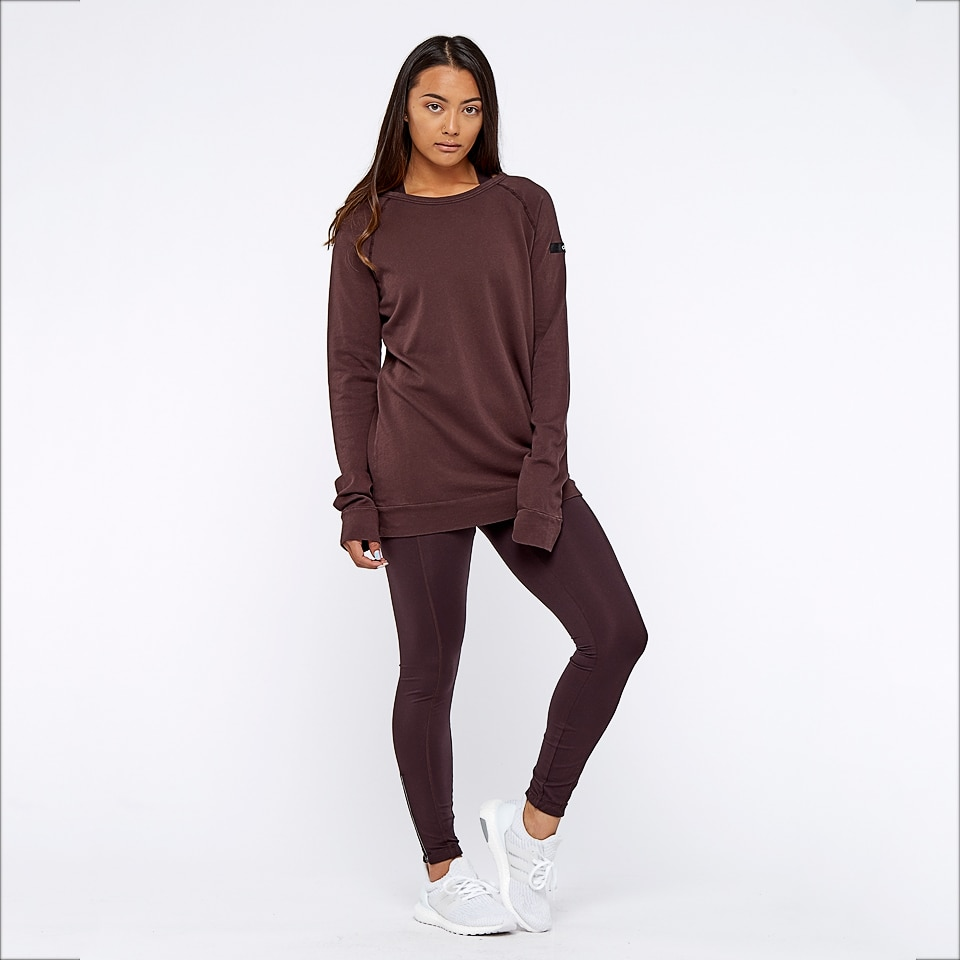 base california womens sweatshirt - chocolate aubergine