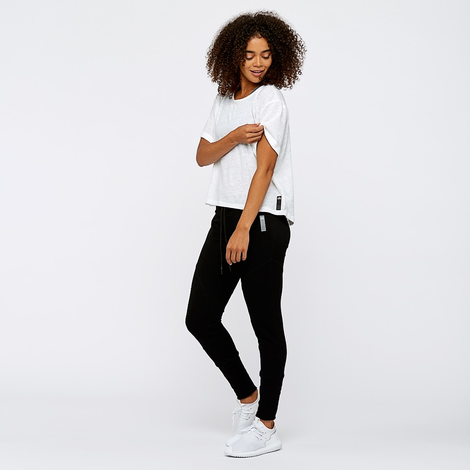base womens boxy t-shirt - white