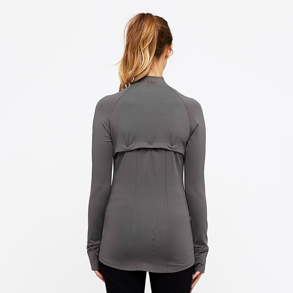 base womens zip top - taupe