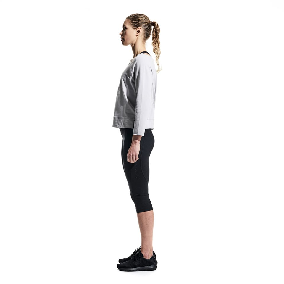 icon slash neck womens sweatshirt - grey