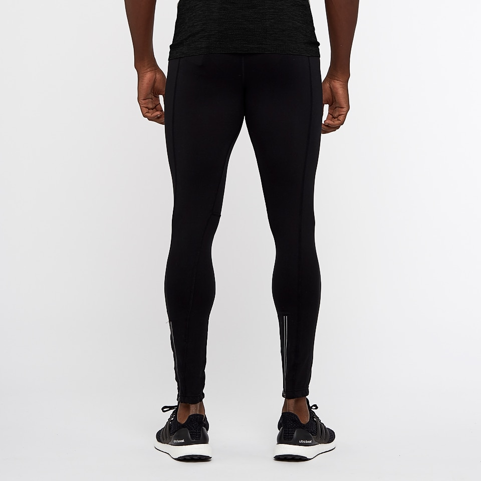 base long mens sports leggings - Black