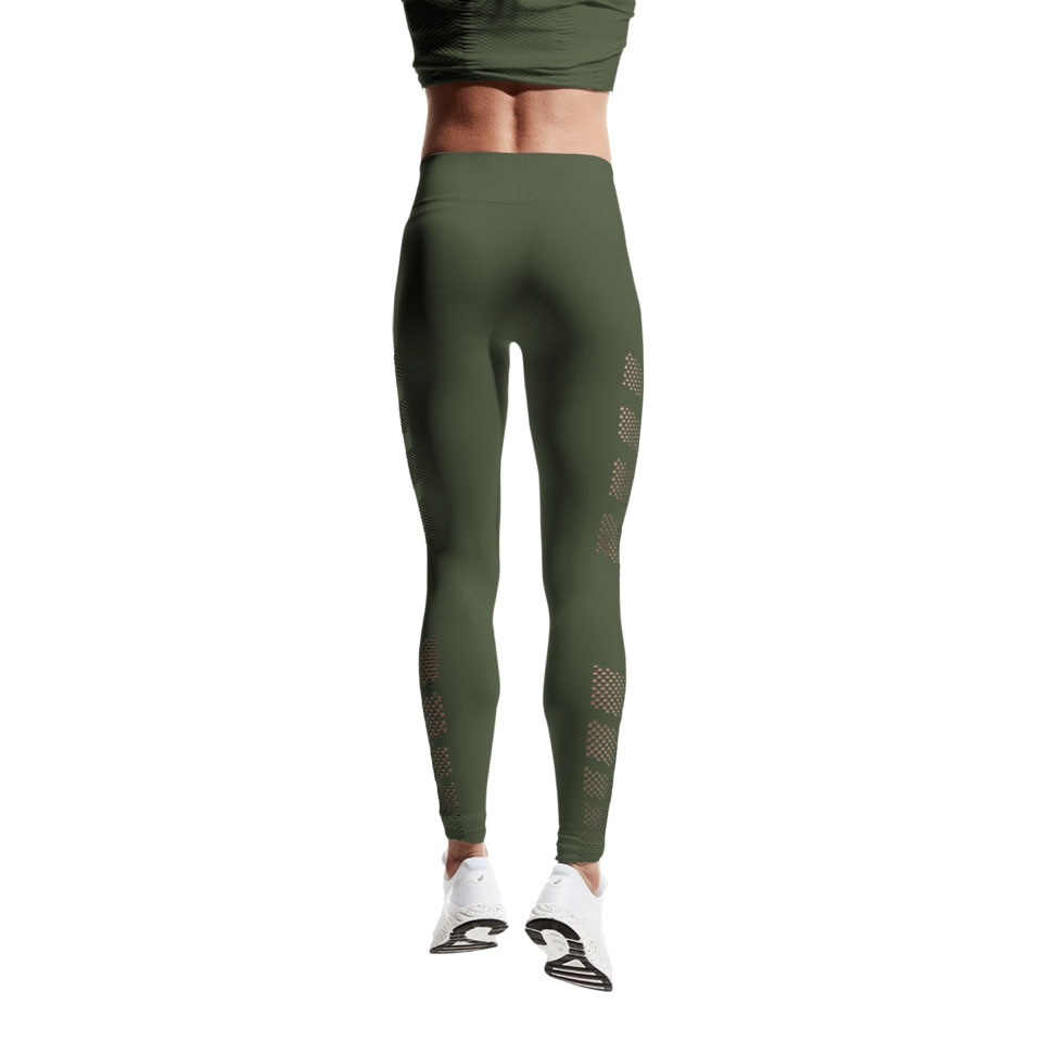 2566eb024918f5 mesh long womens sports leggings - khaki