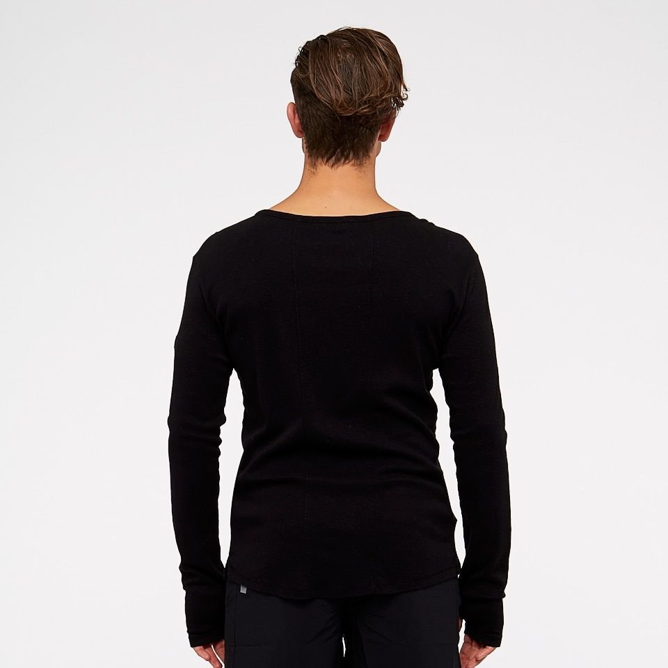 base slub mens long sleeve - black