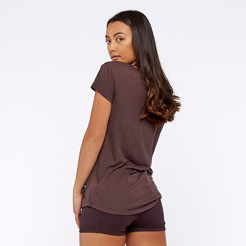 base womens t-shirt - chocolate aubergine