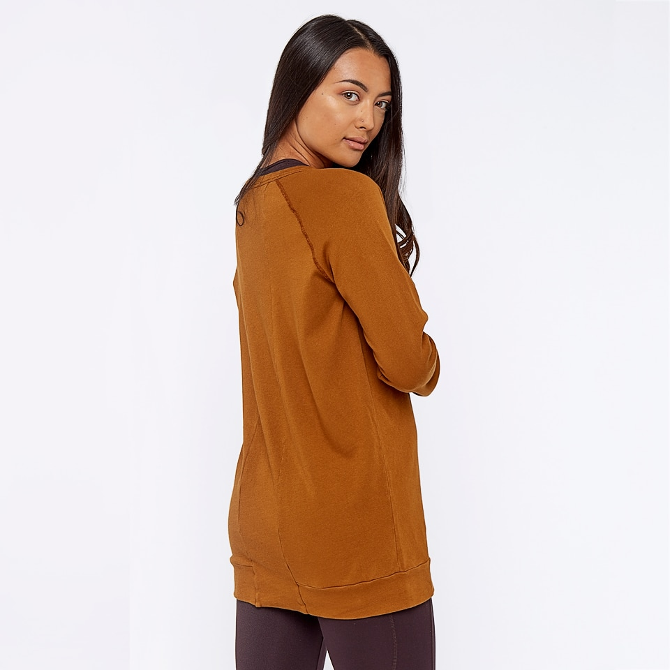 base california womens sweatshirt - burnt caramel