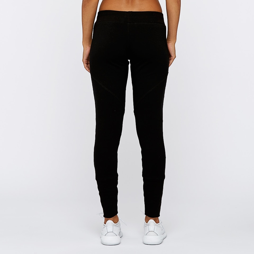 base womens seamed sweatpants - black