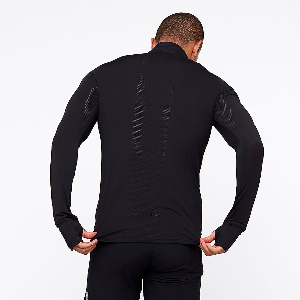 doRUN sheer speed mens 1/2 zip top - black