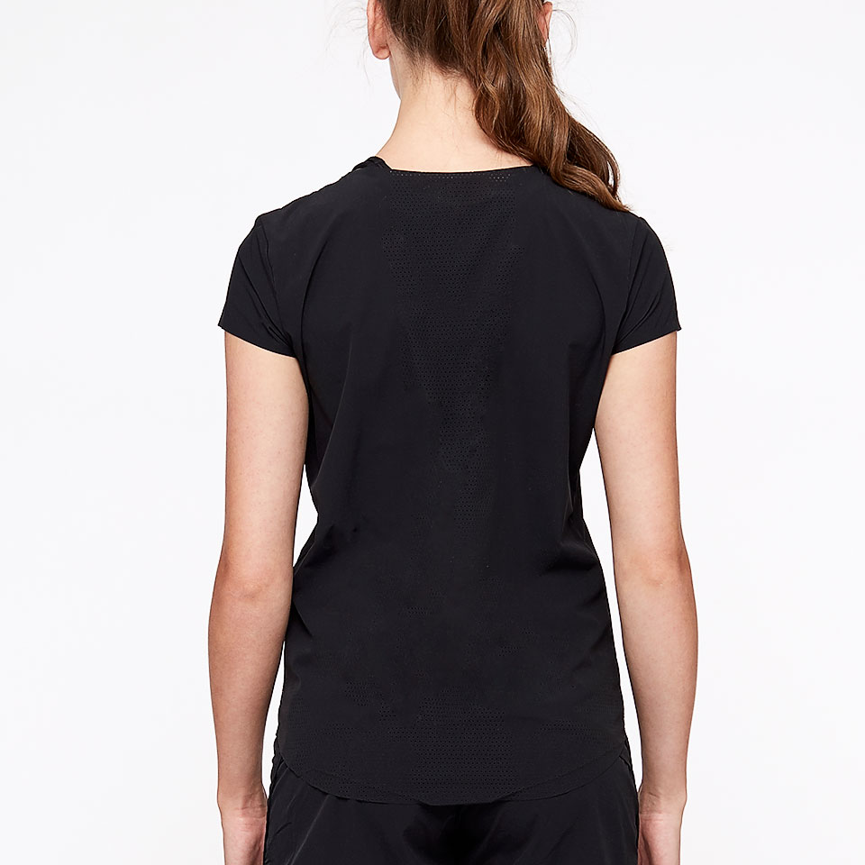 sheer speed womens t-shirt - black