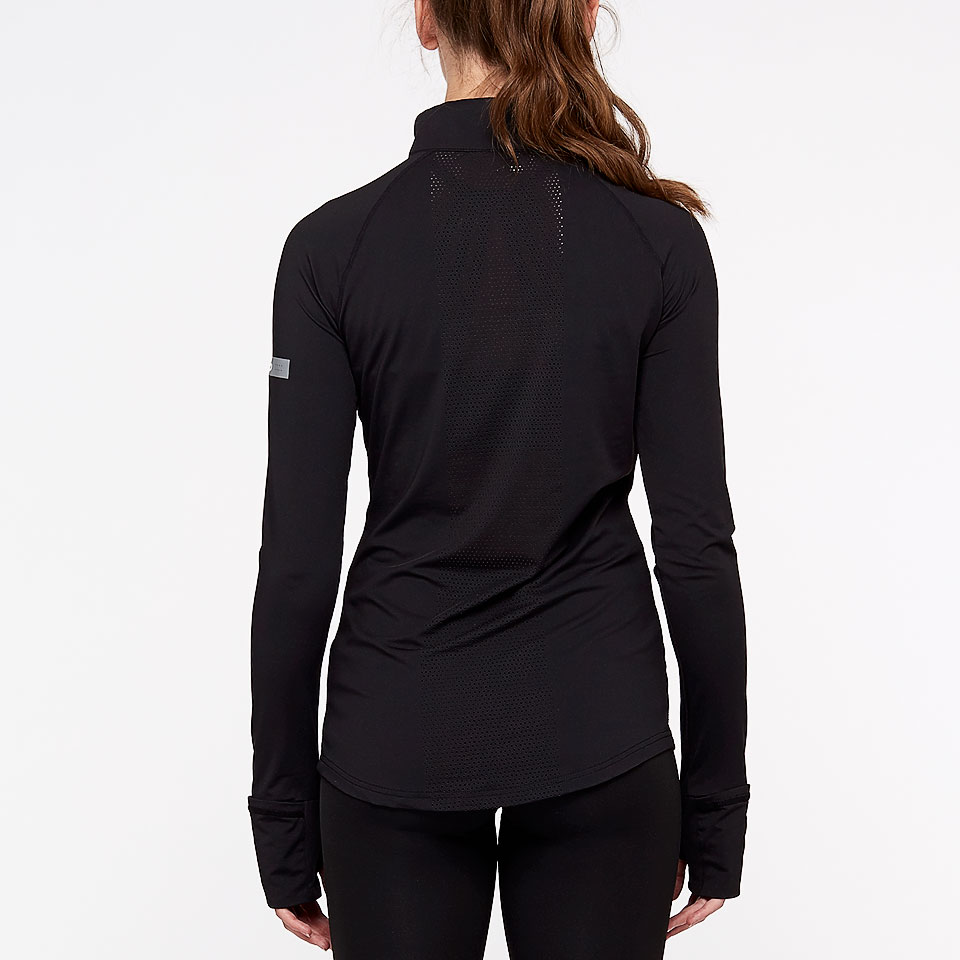 doRUN sheer speed womens 1/2 zip top - black