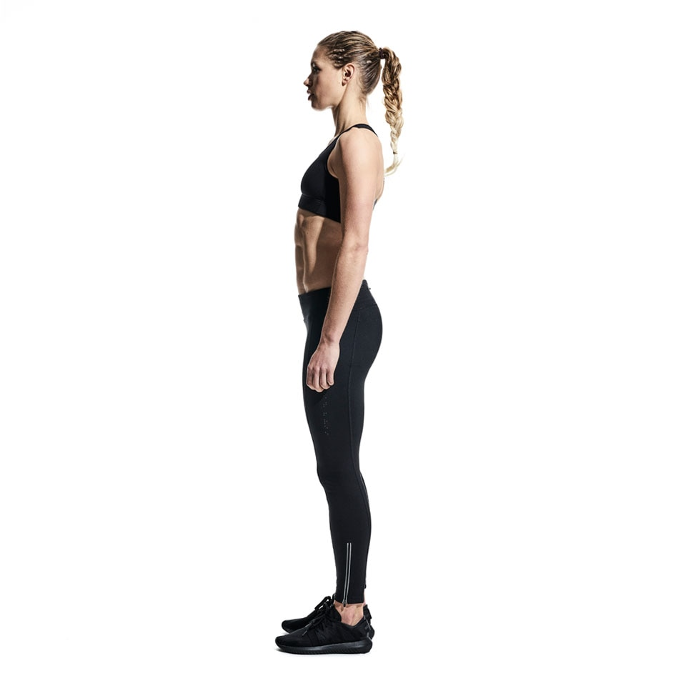 base womens leggings - black