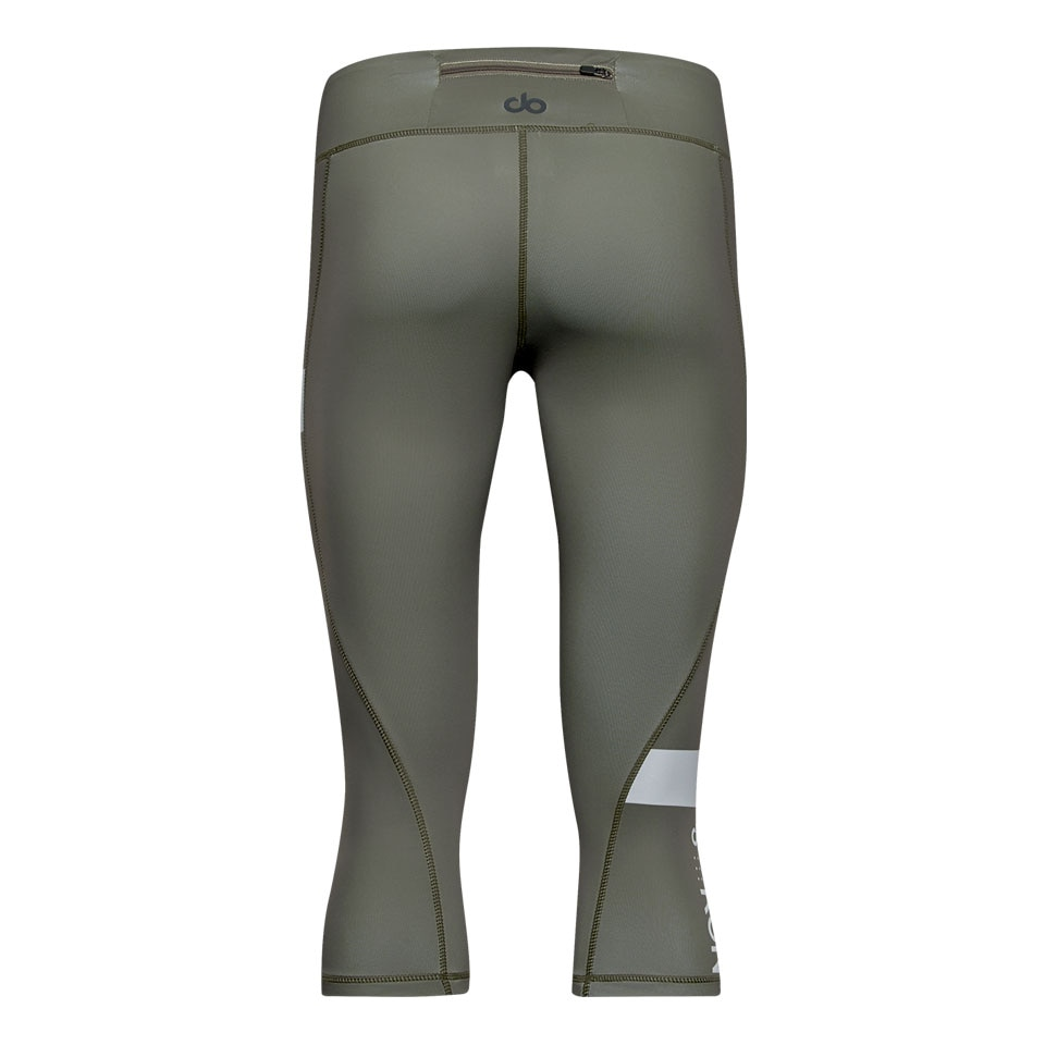 doRUN womens capri leggings - khaki
