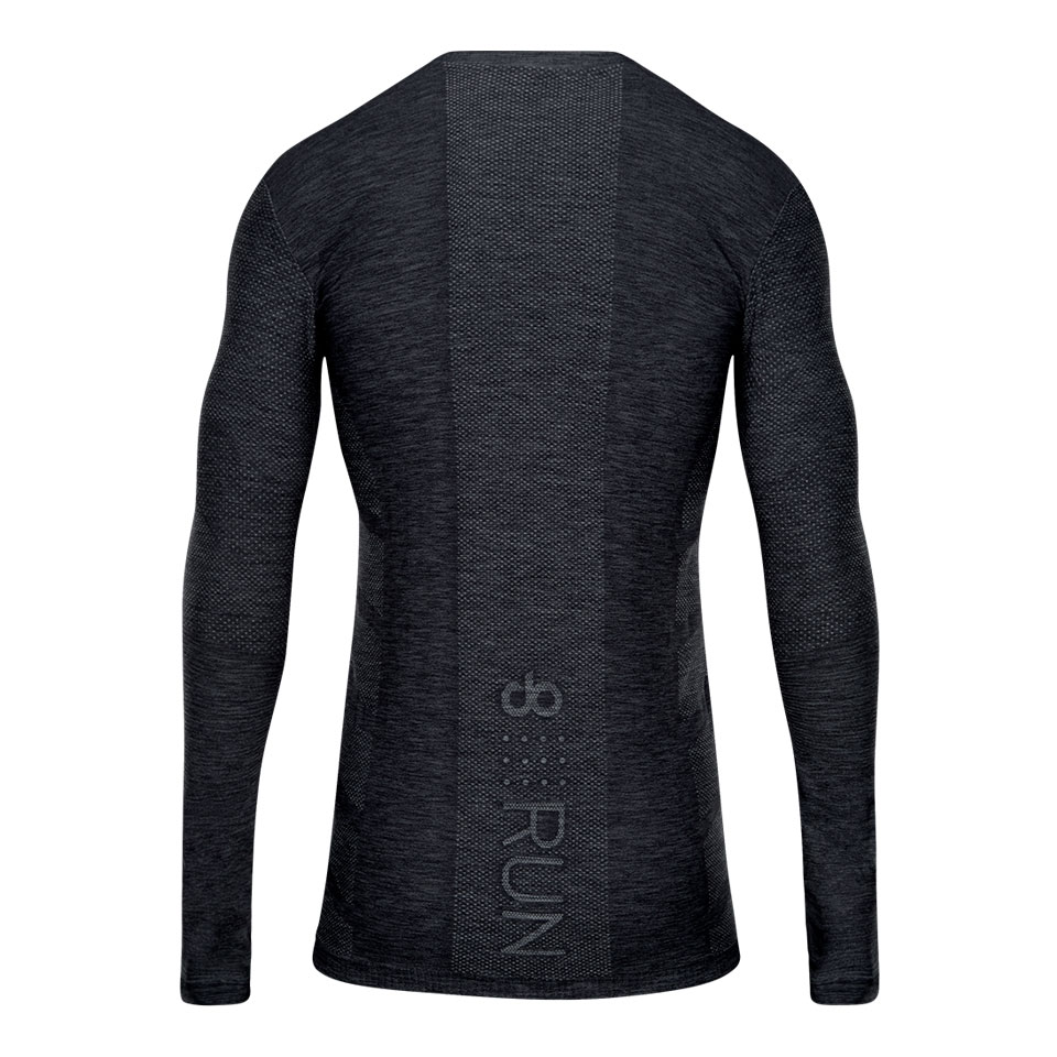 doRUN seamless mens long sleeve running top - charcoal marl