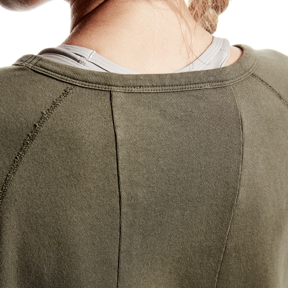 base california womens sweatshirt - khaki