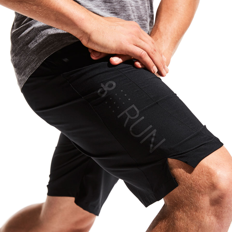 doRUN 8 inch mens shorts - black