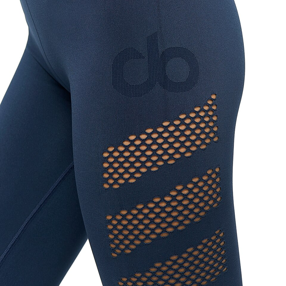 seamless womens mesh tight - navy