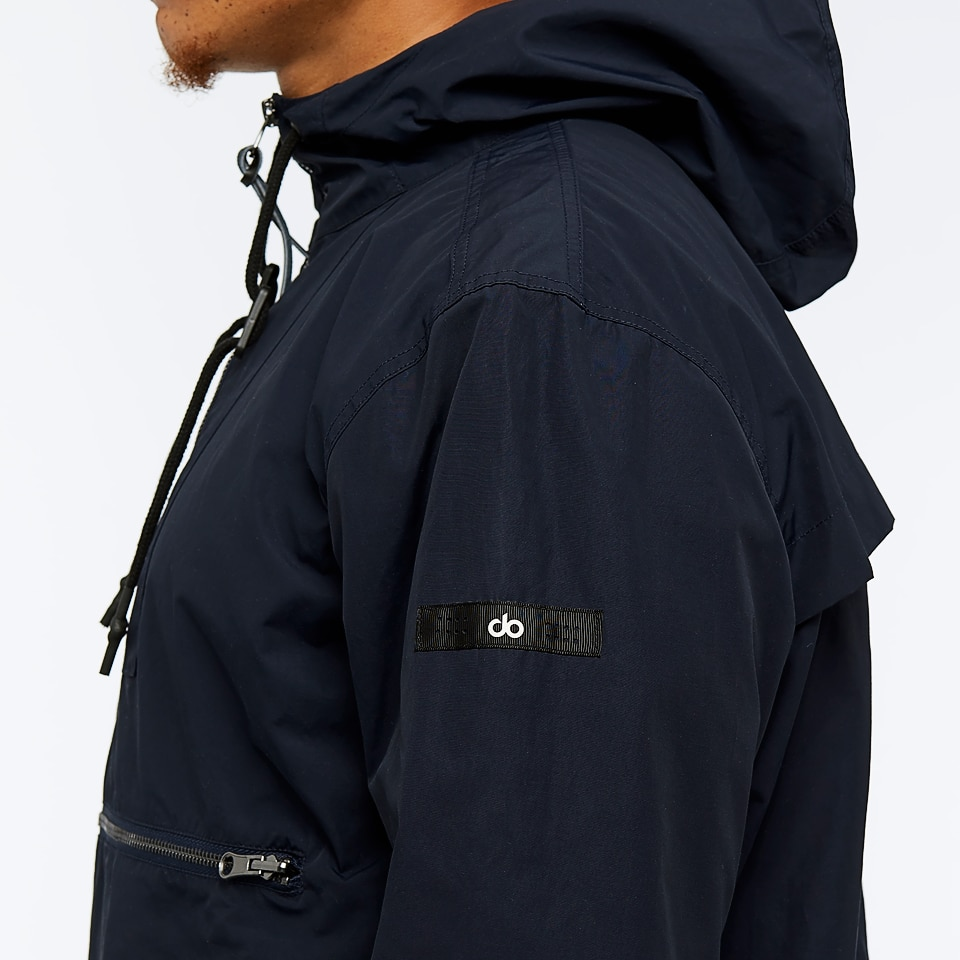 base mens unisex woven overhead jacket - navy.