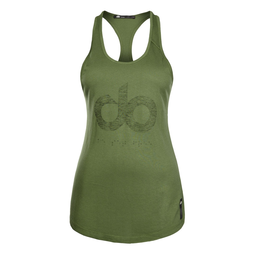 icon womens tank top - khaki