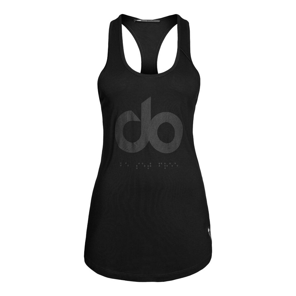 icon womens tank top - black