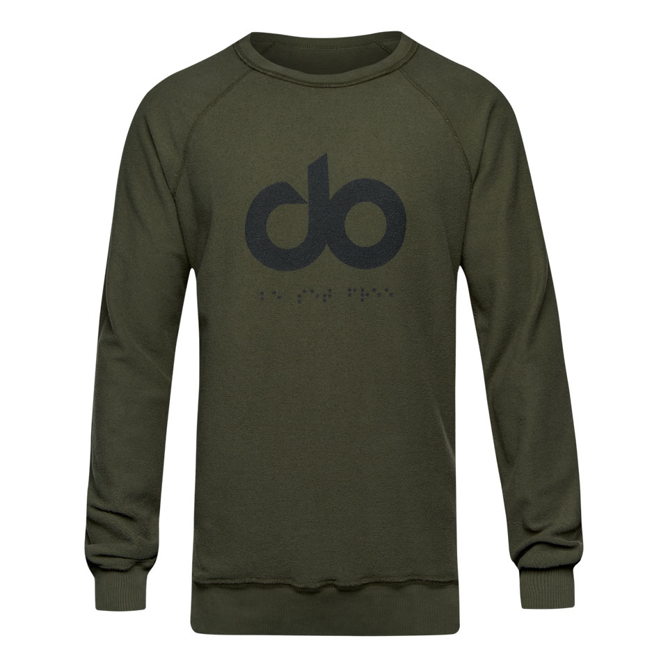 icon reversed mens sweatshirt - khaki