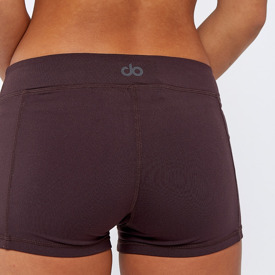 base womens shorts - chocolate aubergine