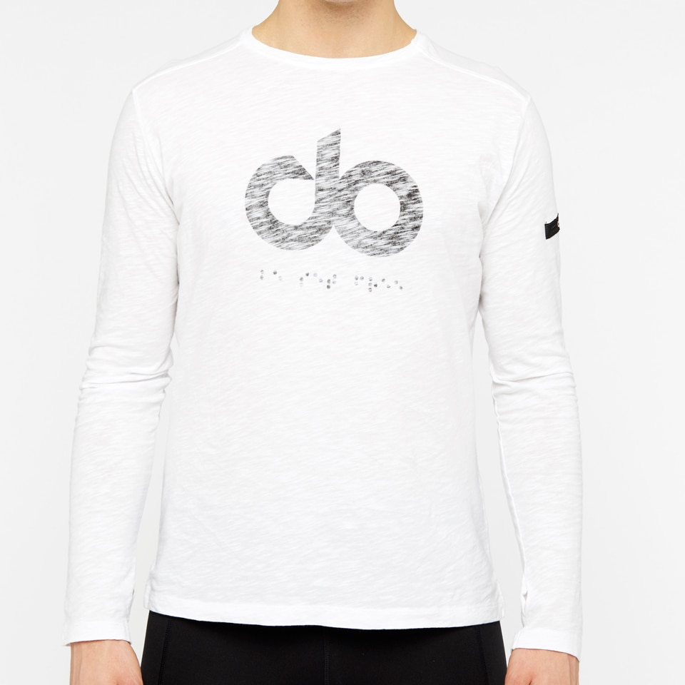 icon wide slub long sleeve - white