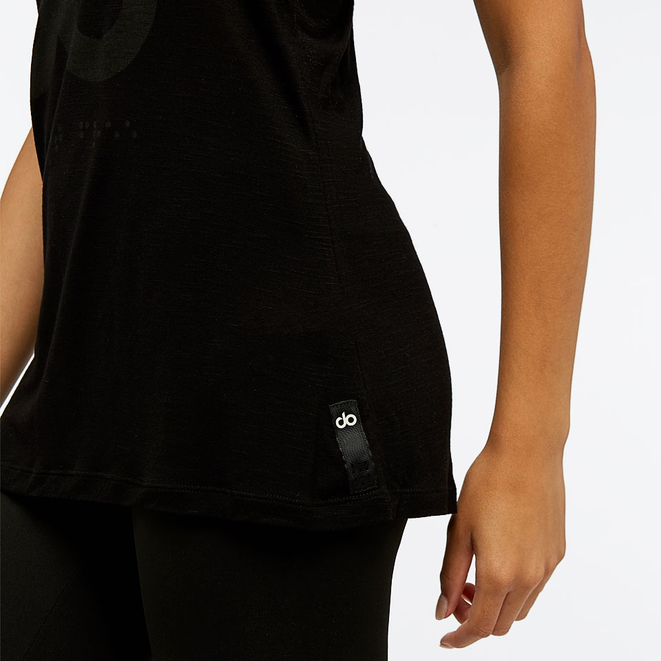 icon burnout womens vest - black