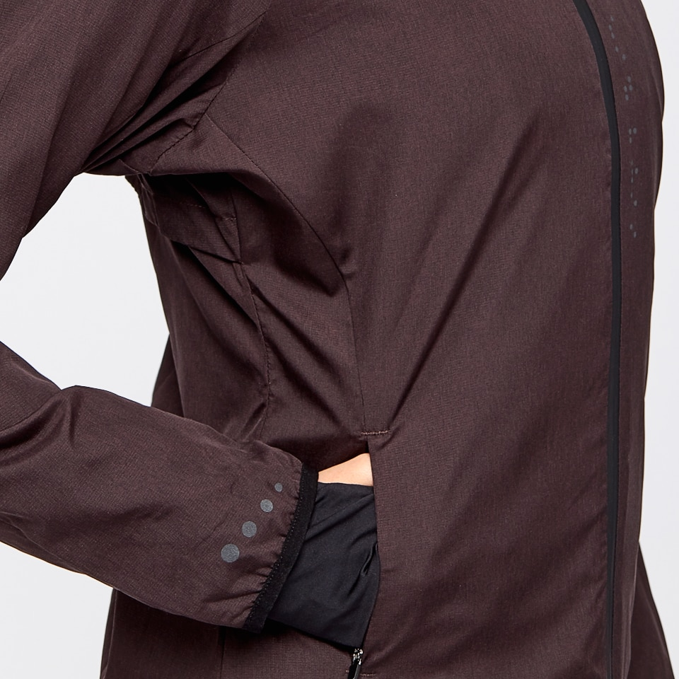 base performance womens jacket - chocolate aubergine