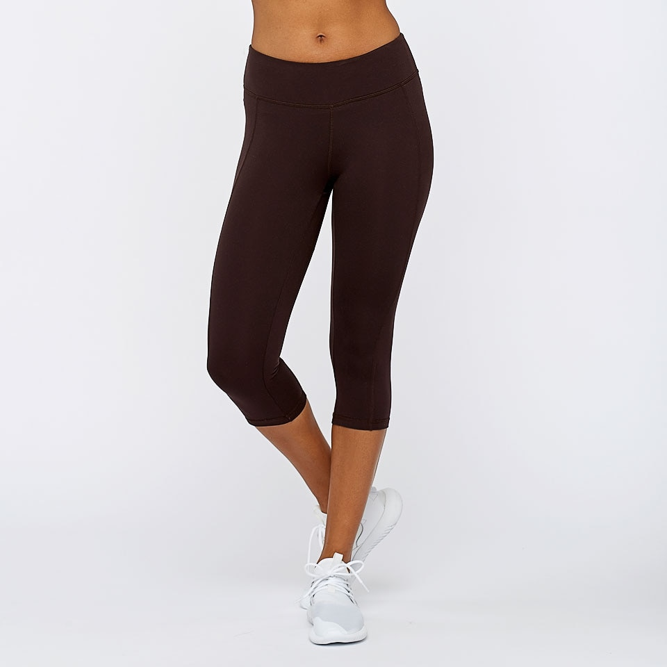 base capri womens leggings - chocolate aubergine