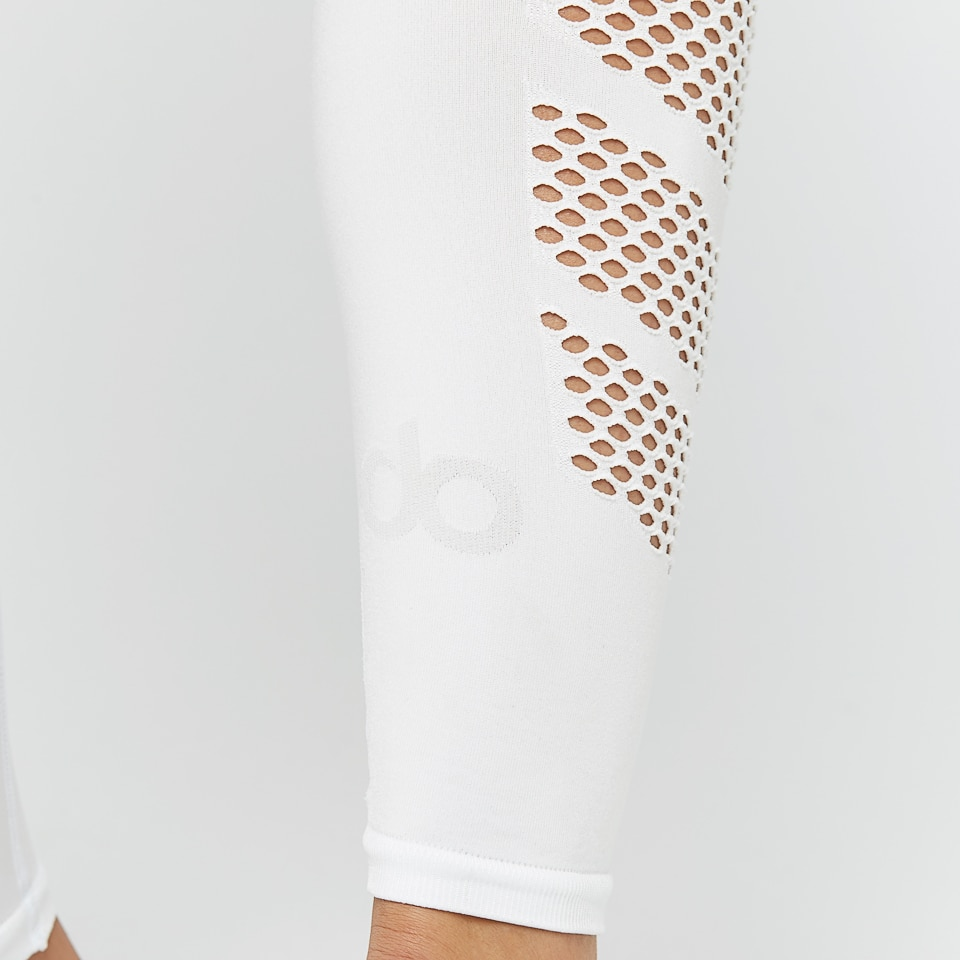 seamless womens mesh tight - white