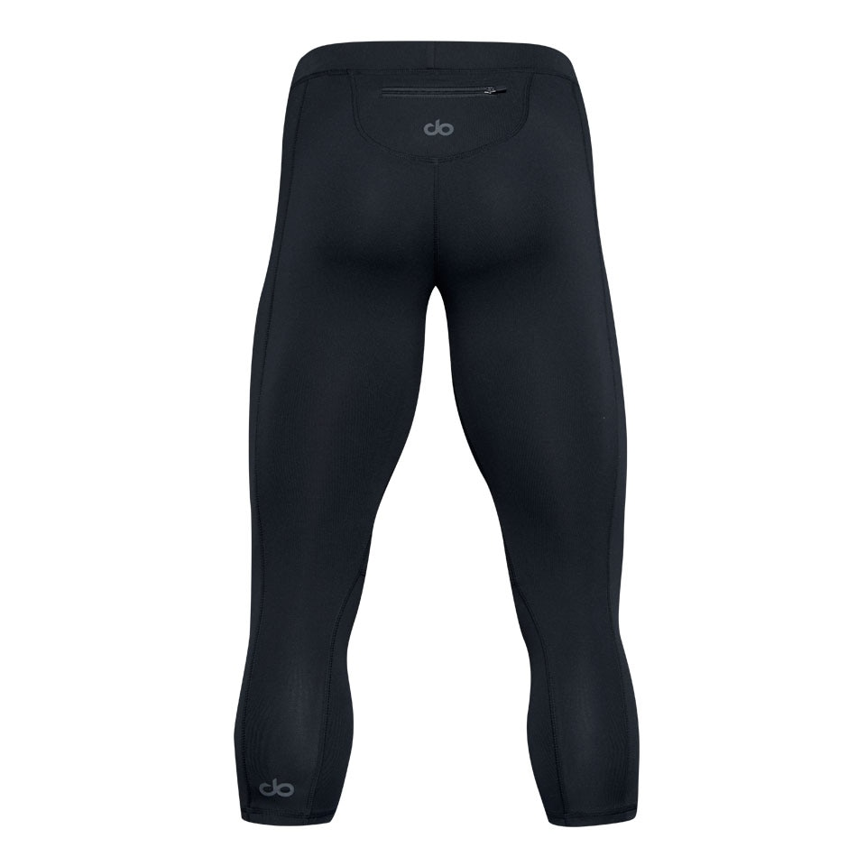 base mens capri leggings - black