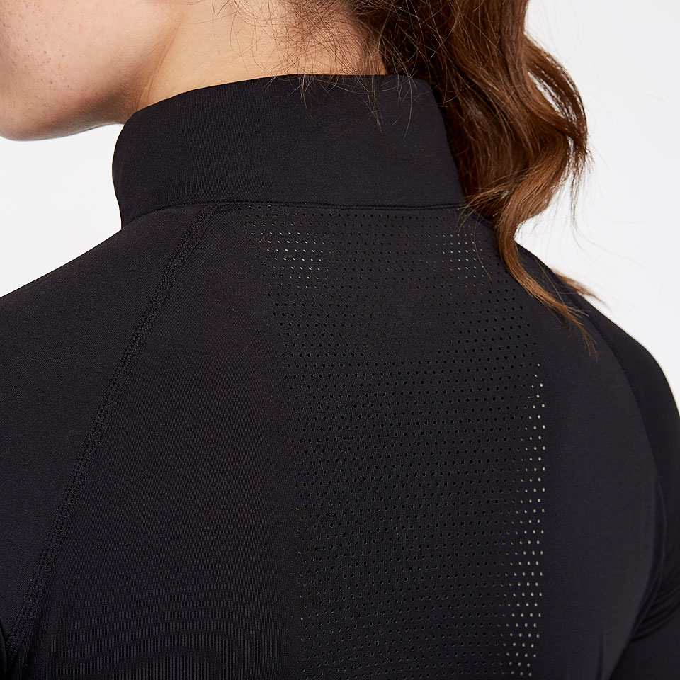 sheer speed womens 1/2 zip top - black