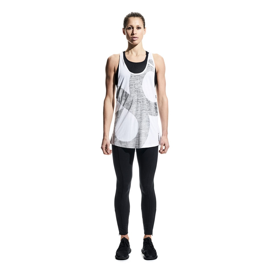 big icon womens sports tank top - white