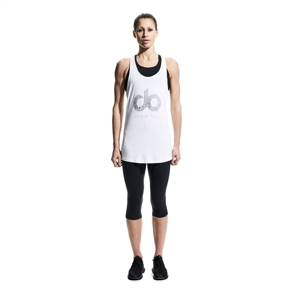 icon womens tank top - white