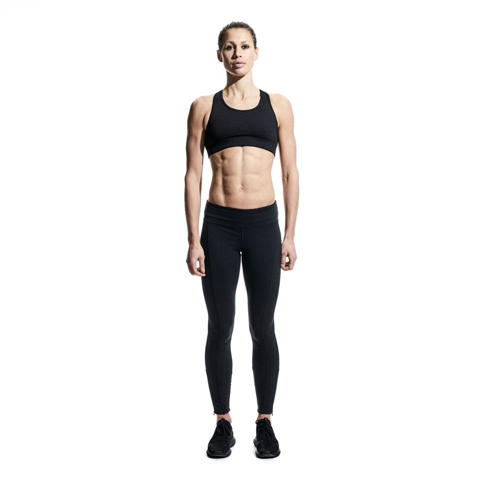 base womens sports bra top - black