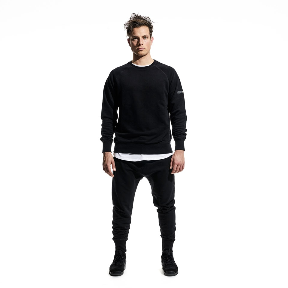 base mens sweatshirt - black
