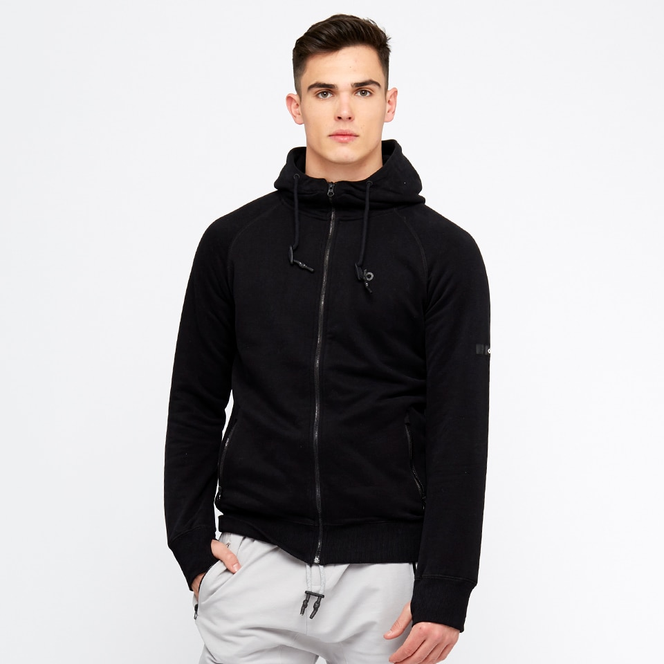 base mens zip hoodie - black