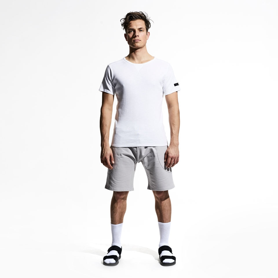 base mens short sweatpants - grey