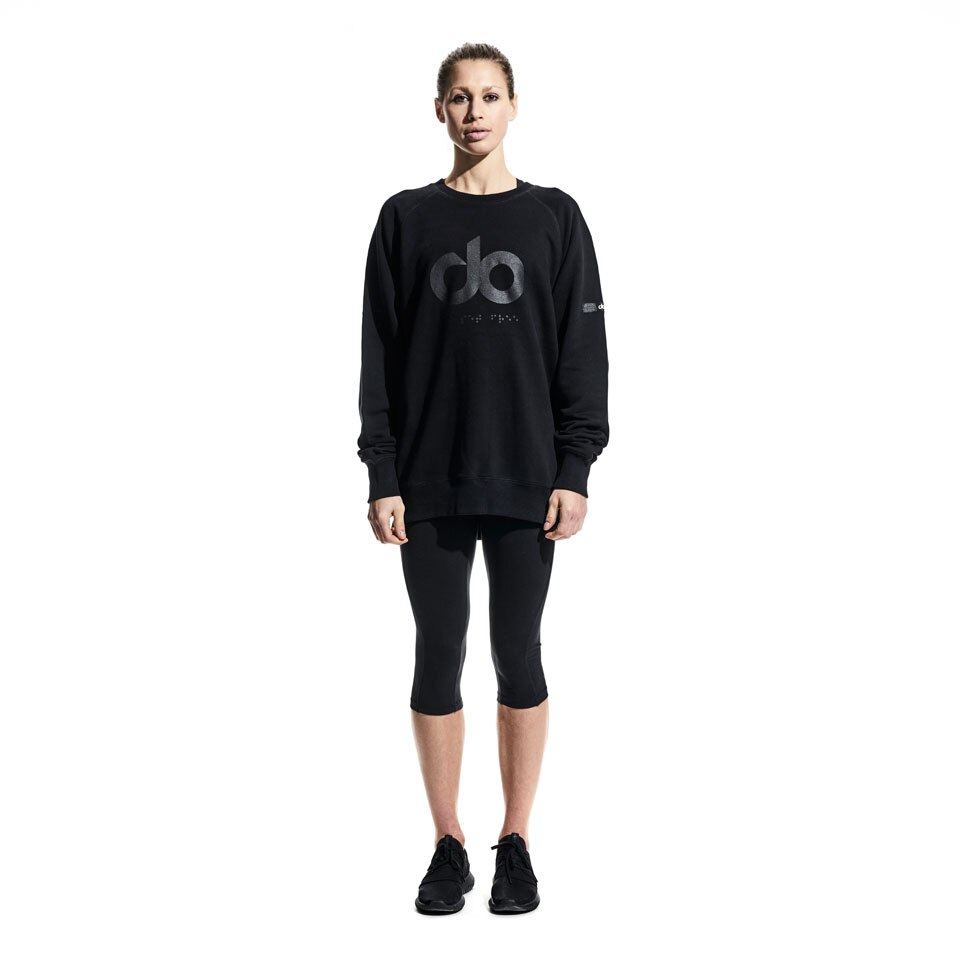 icon womens sweatshirt - black