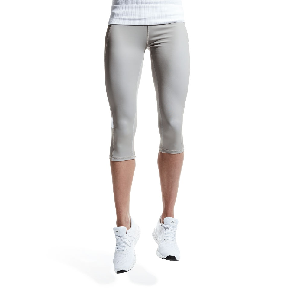 doRUN womens capri leggings - grey