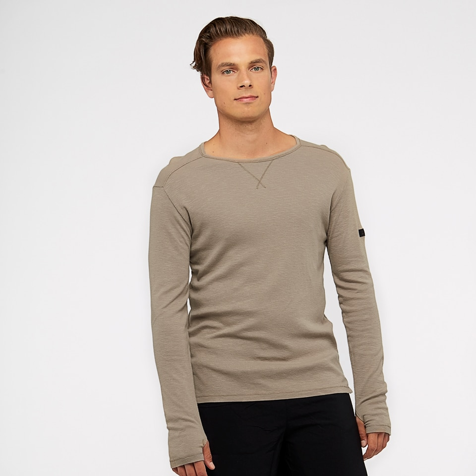 base slub long sleeve - Beige