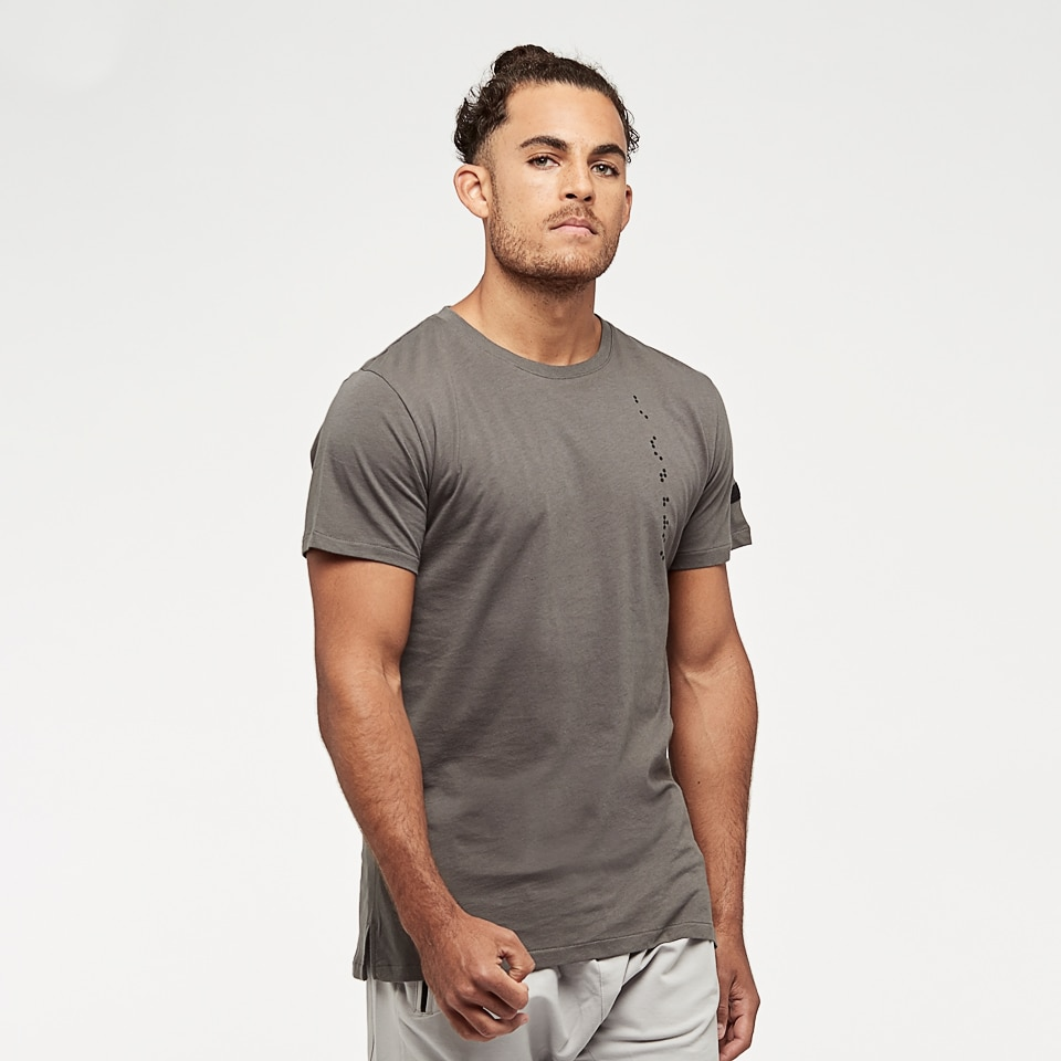 base braille mens t-shirt - taupe