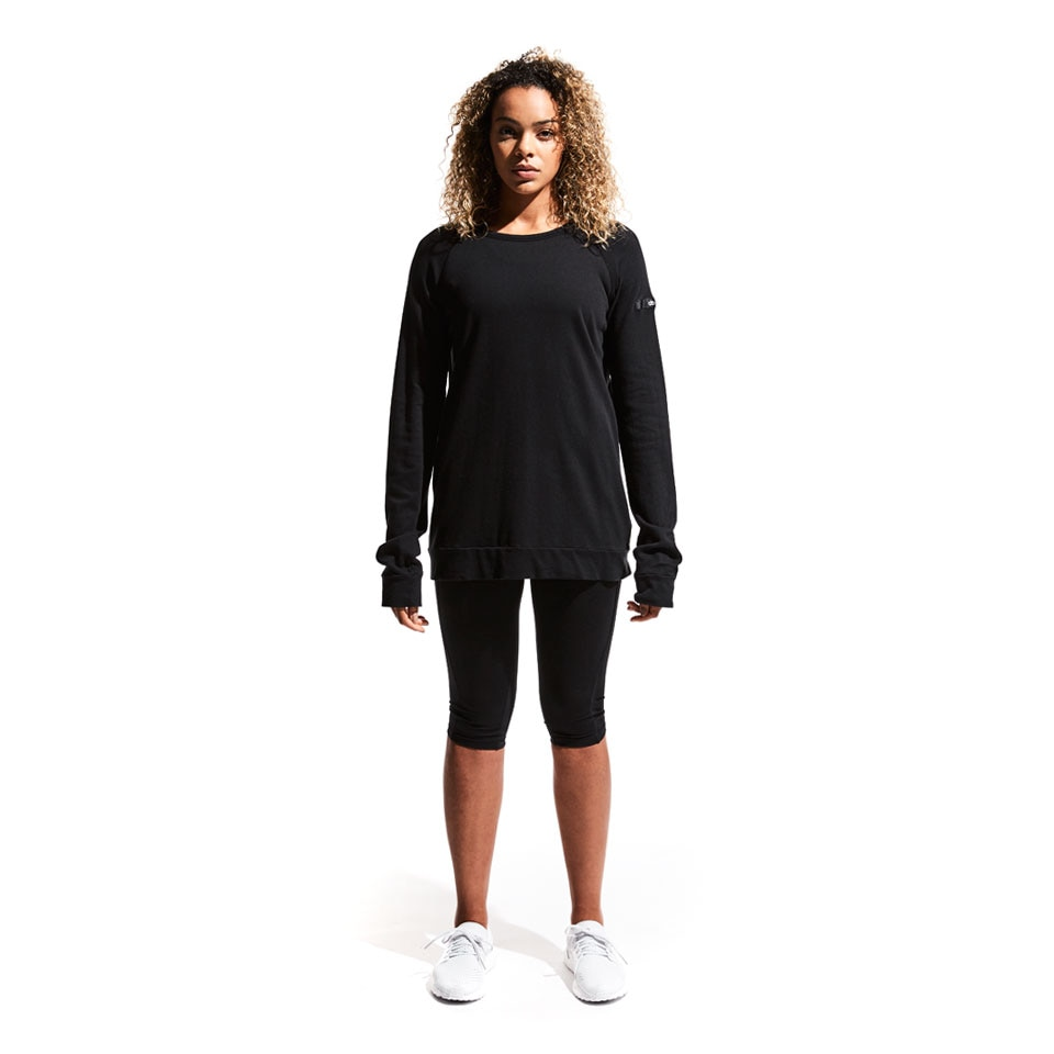 base california womens sweatshirt - black
