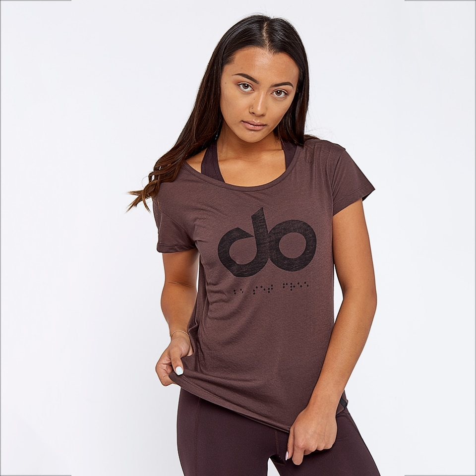 icon womens t-shirt - chocolate aubergine